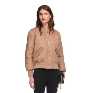 Whistles Carter Nude Bomber Jacket